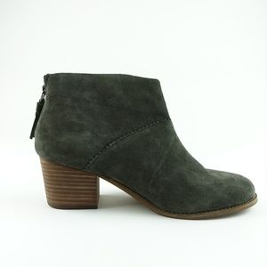 TOMS Women Forest Suede Leila Ankle Booties R14S6
